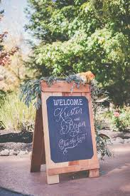 Fall Backyard Wedding by Peach Cream U0026 Gold Autumn Backyard Wedding Wedding Signage