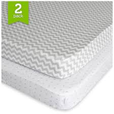Portable Mini Crib Bedding Sets by Amazon Com Pack N Play Playard Sheet Set 2 Pack Fitted Jersey