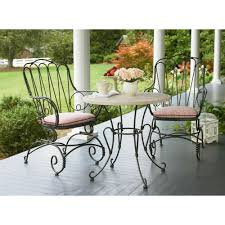 Wrought Iron Bistro Table Black Wrought Iron Cafe Table And Chairs Furniture Outdoor