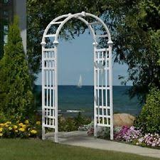 Wedding Arches Ebay Garden Arbor Arch Walkway 7 Ft White Vinyl Trellis Rose Wedding
