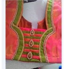 blouse design 15 simple patch work blouse neck designs at back front