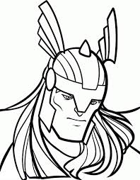 Printable Thor Coloring Pages For Kids 360coloringpages Thor Coloring Page