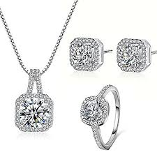 necklace pendant sizes images Majesto 925 silver necklace pendant halo cushion cut jpg