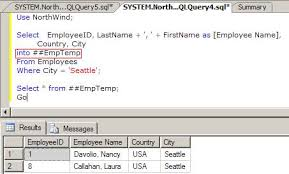 how to create temp table in sql global temp table in sql