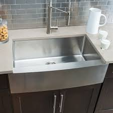 hahn stainless steel sink hahn fh00 farmhouse single bowl stainless steel sink lowe s canada