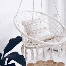 Room Hammock Chair Macrame Hammock Chair Swing Cream Madrid Ivory U0026 Deene U2013 Ivory