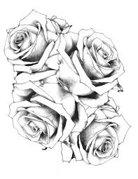 simple design rose tattoo black and grey