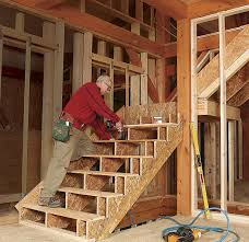L Shaped Stairs Design Framing Stairs With A Landing Fine Homebuilding
