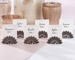 fan shaped place card holder set of 6
