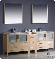 84 Inch Double Sink Bathroom Vanity by Fresca Torino 84