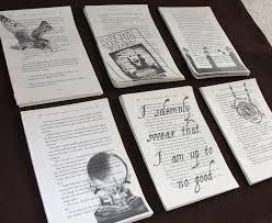 harry potter prisoner of azkaban upcycled book page art prints