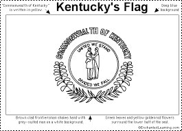 kentucky flag map kentucky flag printout enchantedlearning