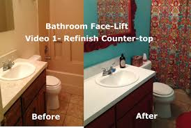 discount bathroom countertops with sink bathroom face lift resurfacing countertop and sink video 1 youtube
