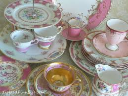 exquisitely pink vintage china