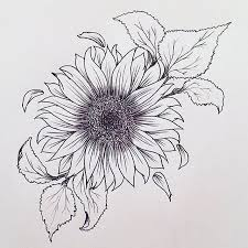 sunflower tattoo really liking this tattoos pinterest