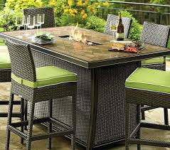 Bar Height Patio Dining Set Dining Table With Pit Glass Pit Dining Table Bar Height