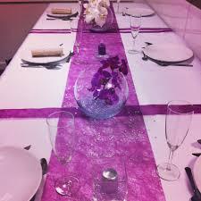 dã coration de table de mariage décoration de table violet et blanc