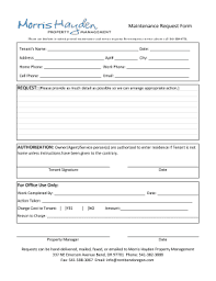 Maintenance Work Order Template Excel Printable Maintenance Request Form Template Excel Edit Fill Out