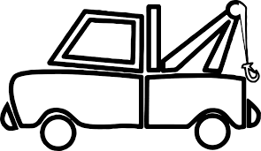 tow truck coloring page wecoloringpage