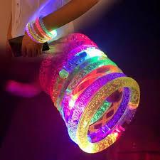 lights you can wear 2018 led flashing stick bracelet acrylic glitter glow flash light