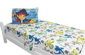 Toddler Bed Jake Amazon Com Disney Jake Captain Sheet Set Twin Home U0026 Kitchen