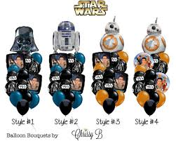 mylar balloon bouquets wars the awakens balloon bouquet bb 8 r2d2 or darth
