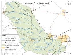Texas Rivers Map Lampasas River Lampasas River Watershed Protection Plan