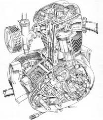bsa a50 a65 unit block engine cutaways pinterest engine