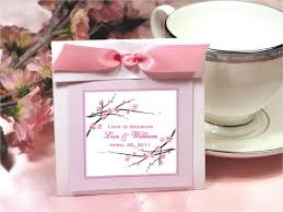 tea bag party favors cherry blossom wedding bridal tea bag party favors pavia party