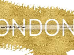 Home Decor Style Names by Custom City Or Country Name In This Style Gold Paint Stroke And