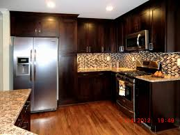 kitchen color ideas with white cabinets light grey mosaic granite