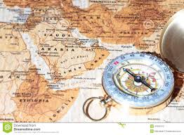 Arabia Map Travel Destination Saudi Arabia Ancient Map With Vintage Compass