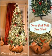 burlap covered faux root ball tree skirt whats ur home story