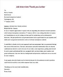 thank you letter job interview best ideas of sample thank you