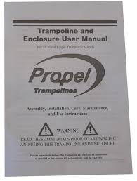 propel trampolines assembly instruction manual