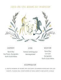 Wedding Invitation Information Card Katie Wilson Custom Illustrated Information Card For Medieval