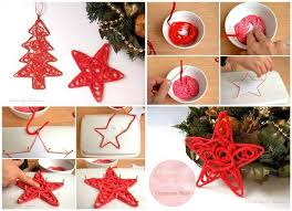 diy yarn tree ornaments find projects to do at