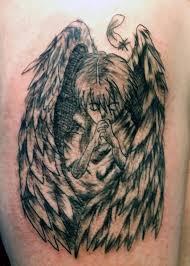 marvelous sad praying angel tattoo design golfian com