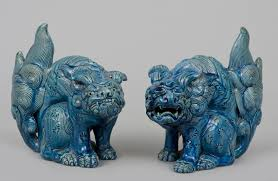 blue foo dogs decor blue grey foo dogs for home accessories ideas