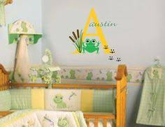 Frog Nursery Decor Frog Monogram Frogs Frog Decal Nursery Decal By Owlhills