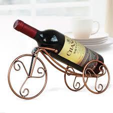 creative home wine shelf decoration iron wine rack metal bike