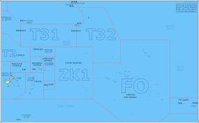 Oceania Map Amateur Radio Prefix Map Of Eastern Oceania