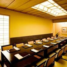 western dining room with inspiration of traditional japanese idea