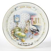 baby birth plates personalized children s china gifts christening and birth plates born gifted