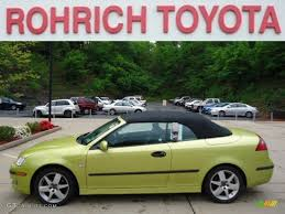 saab convertible green 2004 lime yellow metallic saab 9 3 arc convertible 64665160