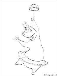 gloria hippopotamus u2013 madagascar coloring coloring pages