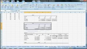 how to make anova table in excel excel techniques 12 anova two factor with replication avi