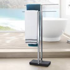 Free Standing Towel Stands For Bathrooms Free Standing Towel Bars Racks And Stands You U0027ll Love Wayfair