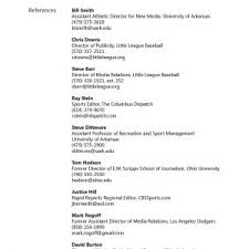 resume reference list sample high references resume