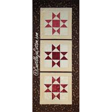 this free quilt pattern is called the u201cohio star table runner